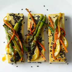 Black Sesame Tofu and Vegetable Stir-Fry http://www.prevention.com/food/healthy-recipes/easy-tofu-recipes-for-every-meal/slide/15