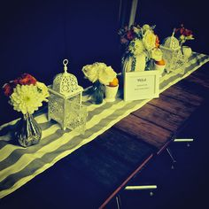 Gorgeous table set-up at a recent wedding.