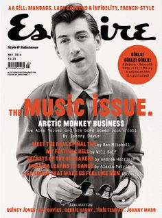 Arctic Monkeys' Alex Turner Covers Esquire UK, Talks Being a Frontman Alex Turner, Editorial Layout, Editorial Design, Magazine Cover Design, Magazine Covers, Esquire Uk, Do I Wanna Know, Identity, The Last Shadow Puppets