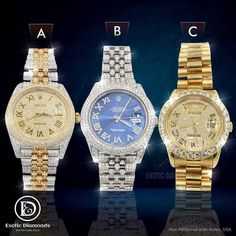 Comment below and let us know which one you would like to add in your rolex collection... DM US OR Buy on our website 💻 www.exoticdiamondsa.com Call us ☎️ : +1 210 927 7787 We offer Financing and Layaway 36 months interest free financing available... @exoticfreeze @exoticdiamondsa #rolexwatch #rolex #watchesofinstagram #rolexsubmariner #rolexwatches #watches #rolexdatejust #watch #rolexdaytona #watchoftheday #watchfam #rolexaholics #rolexero #watchaddict #watchcollector #rolexlover #rolexwr Pre Owned Rolex, Grillz, Rolex Daytona, Rolex Submariner, Custom Jewelry, Rolex Watches, Exotic, Hip Hop, Fashion Jewelry