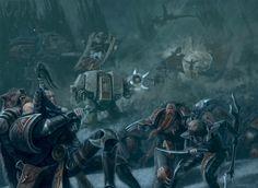 Space Wolves battle against Dark Eldar Raiders