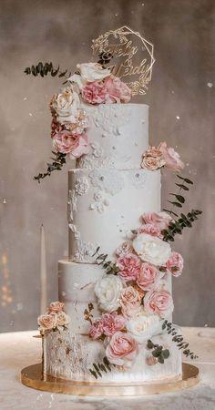 Pretty Wedding Cakes, Black Wedding Cakes, Amazing Wedding Cakes, Elegant Wedding Cakes, Wedding Cake Designs, Wedding Themes, Wedding Colors, Wedding Decorations, Cake Wedding