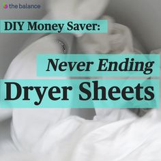 Never buy dryer sheets again with this simple DIY that can save you money on every load of laundry. These DIY dryer sheets are reusable and economical.