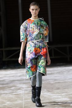 "I'd look like that too if someone made me wear a potholder dress.  ""NINA DONIS, FALL WINTER '11-12"""