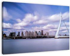 Erasmusbrug, Rotterdam op canvas, dibond of (ingelijste) poster print.
