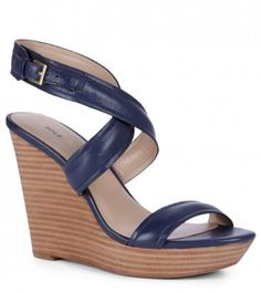 beautiful #blue leather wedges http://rstyle.me/n/haujzr9te