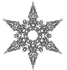 Cool Celtic Tattoos Designs Ideas for Tattoo Body Art: Snowflake Celtic Tattoo Designs ~ tattooeve.com Tattoo Design Inspiration