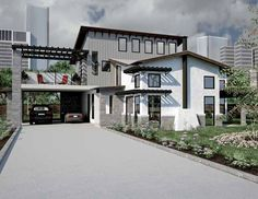 Contemporary-Modern House Plan with 1905 Square Feet and 3 Bedrooms from Dream Home Source | House Plan Code DHSW69455