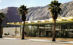 """JW Robinson's Department Store Palm Canyon Drive Palm Springs """"Jewel Box of the Desert"""" 1952 by Patricksmercy magical Palm Springs California, this beautiful mid-century modern Los Angeles bsed. Palm Springs Style, Palm Springs California, Southern California, Vintage California, Vintage Architecture, Architecture Design, Modern Art Deco, Googie, Mid Century House"""