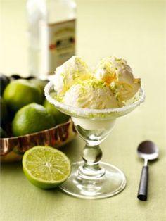 No churn margarita ice cream. Just make in your freezer! I love Nigella
