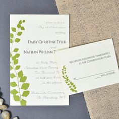 Botanical Green Invitations Kit at Willowtreehome