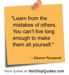 The earlier in life that this lesson is learned, the more useful it is.  This is why the roles of parents, family members, teachers and even community organizations are so important.  Books are wonderful because they can help us recognize the mistakes of others and learn from them while avoiding criticizing and judging other people.  What are your thoughts?