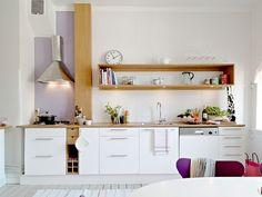 cocinas pequenas minimalistas blancas