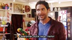 "Gary: ""Caterpillar-Duck Race, hello!"" #Miranda"