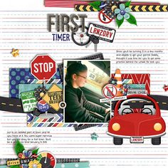 Layout by Kendall using Leaving the Nest: New Driver by Traci Reed, available at Sweet Shoppe Designs