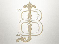 Custom Vintage Monogram -  BJ JB - Vintage Monogram - Digital