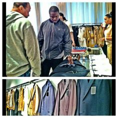 Melvin shoppin to get his suit