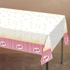 Hollywood Night Table Cover by Windy City Novelties. $6.95. Make movie night at home as special as red carpet event when you serve up fun with friends and family on our Hollywood Night Table Cover. This great looking plastic table cover echos the style of a classic popcorn cups from the theatre. Match this Hollywood Night Table Cover with all of our Hollywood Night party supplies or use them to accent any awards night party theme. Each pack comes with 1 table cover. Please or...