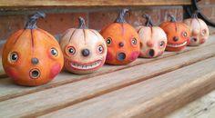 SINCLAIR.....vintage inspired pumpkin Halloween Fall retro folk art