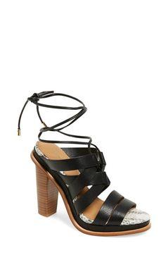 CALVIN KLEIN 'Panelope' Lace-Up Sandal (Women). #calvinklein #shoes #flats