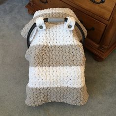 Ravelry: Chunky Star Stitch Car Seat Canopy Cover pattern by Crochet by Jennifer