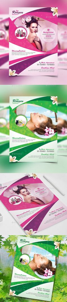 Beauty Salon Spa - Flyer Template PSD #design Download: http://graphicriver.net/item/beauty-salon-spa-flyer/13931580?ref=ksioks: