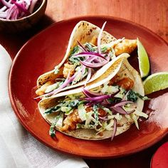 California Style Fish Tacos Recipe - a lilttle more time consuming but sounds doable Fish Recipes, Seafood Recipes, Mexican Food Recipes, Cooking Recipes, Healthy Recipes, Ethnic Recipes, Whole30 Recipes, Mexican Dishes, Seafood Meals