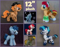 MLP:FIM Custom pony plush toy 12 inches tall - canon & OC