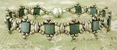Linda's Crafty Inspirations: Bracelet of the Day: Tallulah Tila - Steel Blue