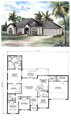 French door house plans