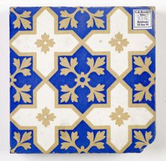 Encaustic floor tile of trellis design with white crosses and blue star shaped areas, made by Minton & Co. Victorian Wallpaper, Victorian Tiles, Victorian Era, Victorian Fashion, Trellis Design, White Crosses, Star Shape, Design Elements, Tile Floor