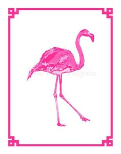 Palm Beach Chic at The Pink Pagoda - The Glam Pad Flamingo Art, Pink Flamingos, Graphic Wallpaper, Chinoiserie Chic, Pink Bird, Tropical Design, Everything Pink, Contemporary Artwork, Mellow Yellow