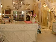 tin desk with marble top completed by jesse at girly chic by confetti garden- nicole hill, via Flickr