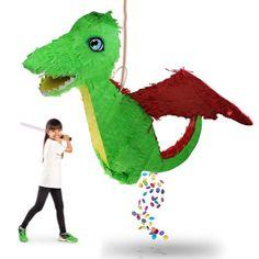 Der Pinata Drache ist ein toller Spaß und eine coole Geschenkidee für viele Anlässe, besonders für Kinder.