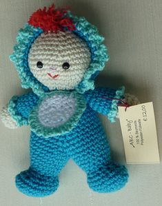 Amigurumi Crochet pattern little baby ~ Free pattern, pdf saved