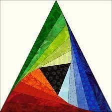 Resultado de imagen para twisted log cabin triangle