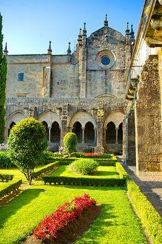 Tui, Galice, Espagne, Cathédrale, Catedral de Santa Maria de Tui 38, le cloître**.