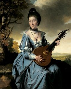 Joseph Wright of Derby: Portrait of Mrs. Robert Gwillym, 1766.