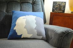 Doctor Who Silhouette throw pillow