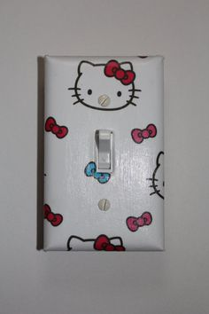 Hey, I found this really awesome Etsy listing at https://www.etsy.com/listing/187577766/hello-kitty-light-switch-plate-cover
