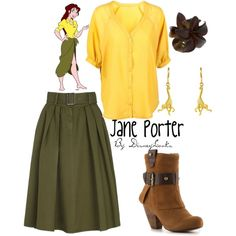 Jane Porter from Tarzan Costume Disney Bound Outfits Casual, Cute Disney Outfits, Disney Themed Outfits, Character Inspired Outfits, Disney Dresses, Cute Outfits, Disney Halloween Costumes, Halloween Outfits, Tarzan And Jane Costumes