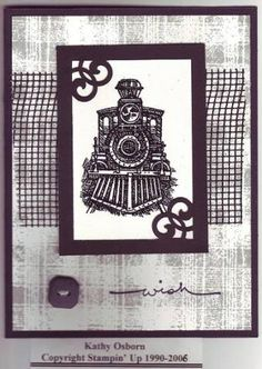 All Aboard using Stampin Up All Aboard retired stamp set