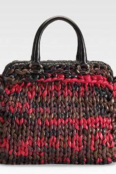 prada knit bag