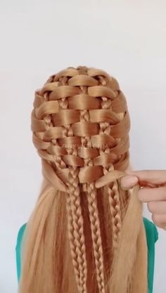 Unique and beautiful hairstyle