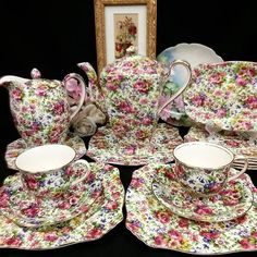 Royal winton summertime chintz tea set