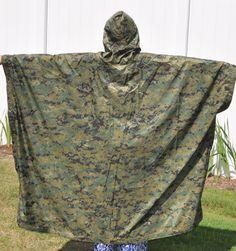 USMC MARPAT Poncho Genuine US Mfg. Brand new Reversable Tan
