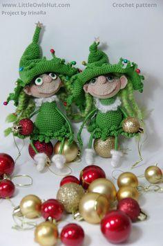 Project by IrinaRa. Doll Marie the Christmas tree crochet pattern by Pertseva for LittleOwlsHut # Doll #Marie #the Christmas tree # crochet pattern# Pertseva# LittleOwlsHut# crafts & DIY