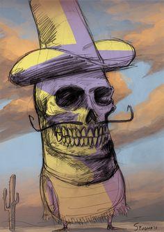 Mexican Skull Guy on Behance