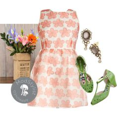 #florals #coral #fitandflare