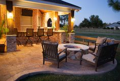 Your patio is your oasis, where memories are made. Good patio design creates an outdoor living space where you can be yourself, and just be. Outdoor Spaces, Outdoor Living, Outdoor Decor, Outdoor Kitchens, Patio Design, Home Design, Modern Design, Garden Design, Interior Design